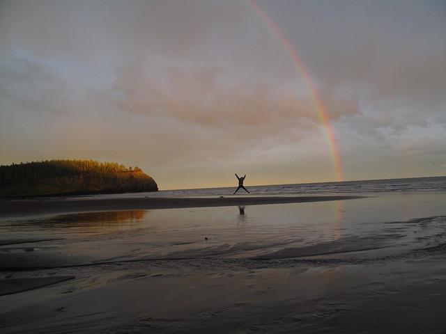 Rainbow star jump