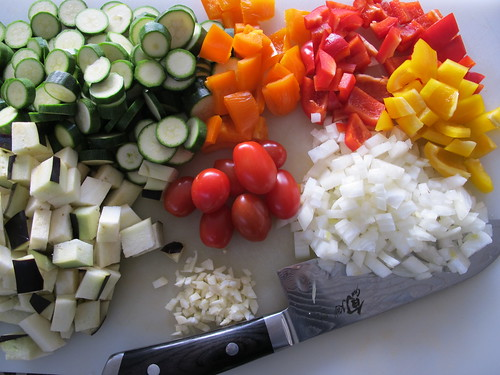 Ingredients for the ratatouille