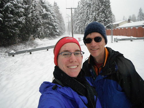 Katie & Dad Snowshoeing