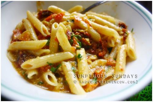 Sumptuous Sundays: Tomato & Fish Roe Pasta