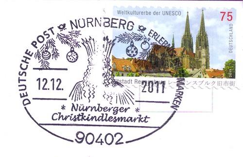 Germany Stamp & Christmas Postmark