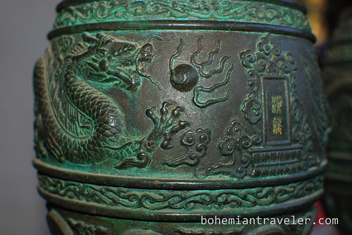 bell detail at Confucian Temple in Jianshui