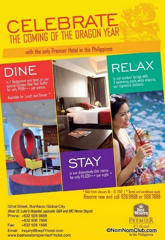 Best Western Premier F1 Hotel Chinese New Year Promo