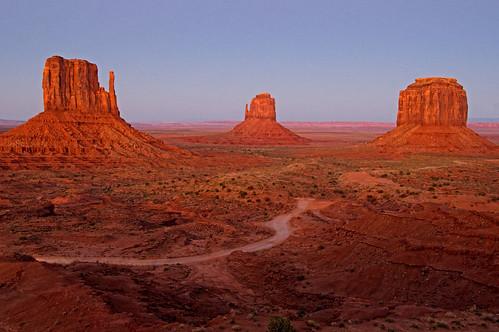 road sunset arizona sky southwest evening utah desert dusk monumentvalley desolate navajoreservation arid rockformations buttes navajotribalpark 2011 blueribbonwinner coth supershot naturesgarden itsawonderfulworld absolutelystunningscapes damniwishidtakenthat coth5 photocontesttnc12 dailynaturetnc12