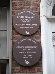 Photo of Edward Carson brown plaque