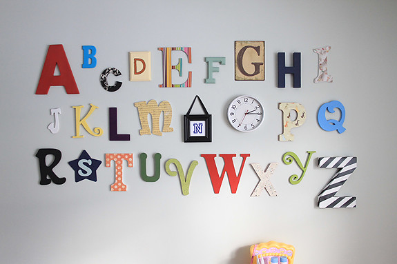 Diy alphabet wall heather drive for Party wall letter template