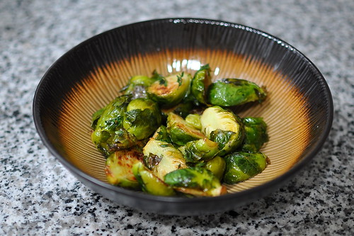 Roasted Brussels Sprouts with Honey, Lemon, and Thyme