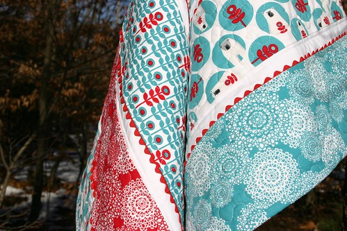 Brrr! baby quilt - quilting