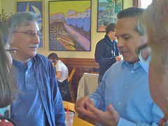 Rep. David Cicilline talks with Len Katzman