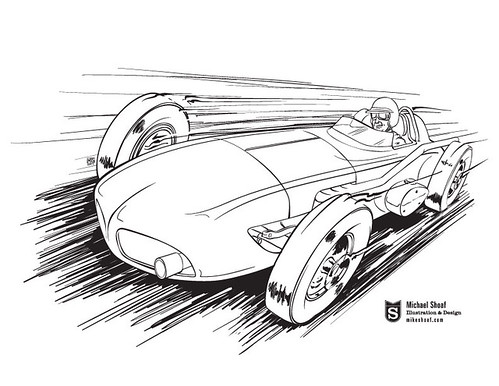 Indy Roadster Coloring Page