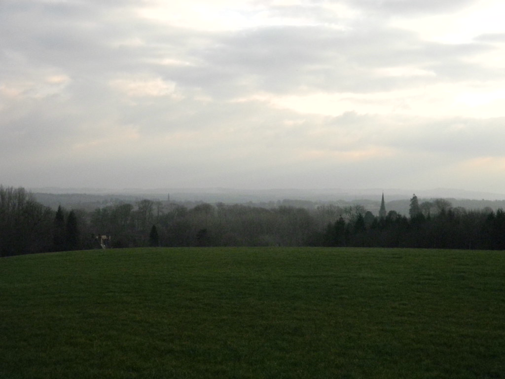 View over Midgham Aldermaston to Woolhampton