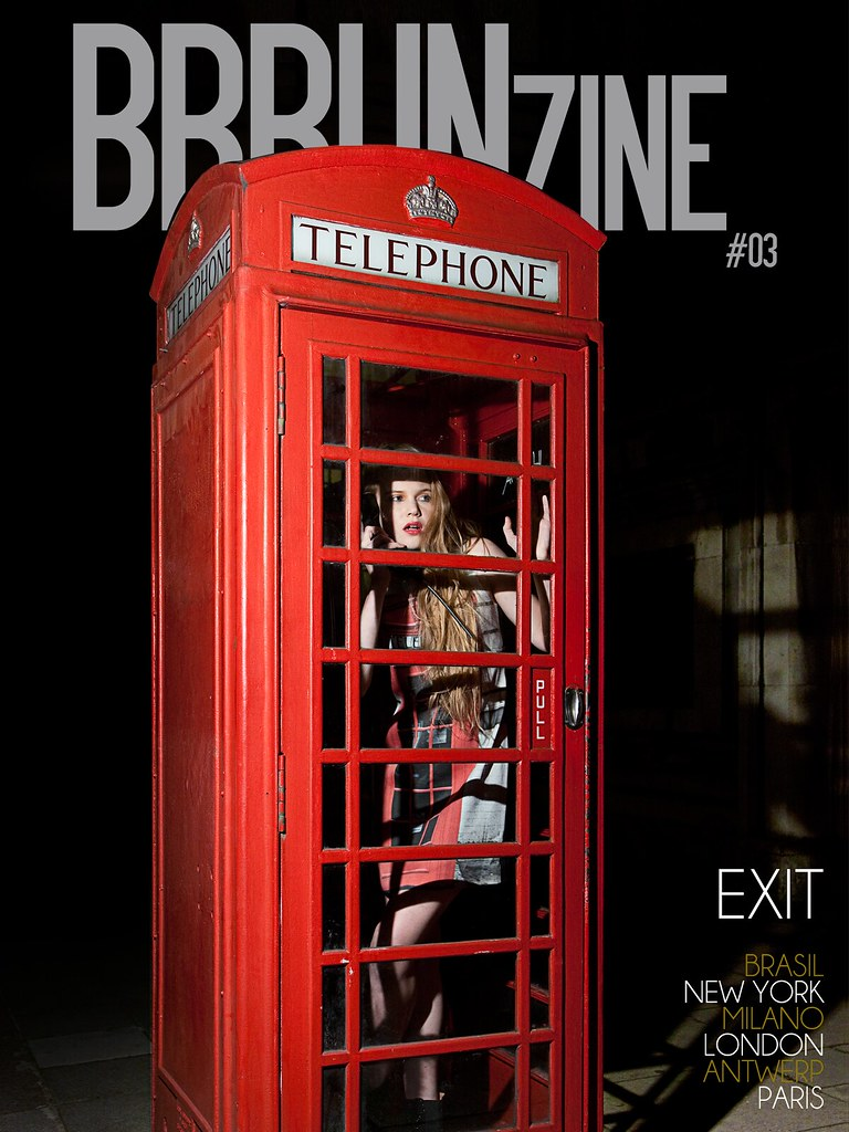 "BRRUNzine #03 — ""Exit"" by Eric Oliveira and styling by Lisa Jahovic — Creative Director: Bruno Capasso — Liza Serpova wears Moschino Cheap and Chic"