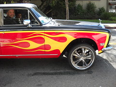 flame-paing-job-on-rolls-side-view