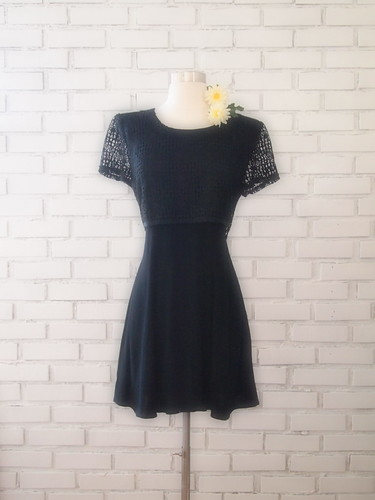 1990s crochet mini dress