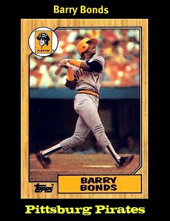 Barry Bonds-1987 Topps