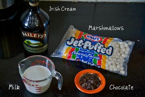 Ingredients for Baileys Irish Cream Hot Chocolate