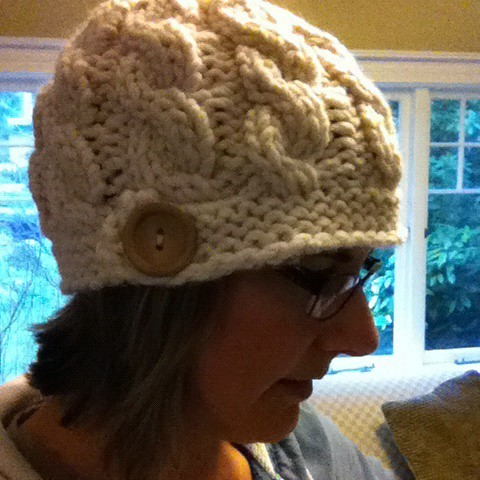 My new hat from Kristie at OCD