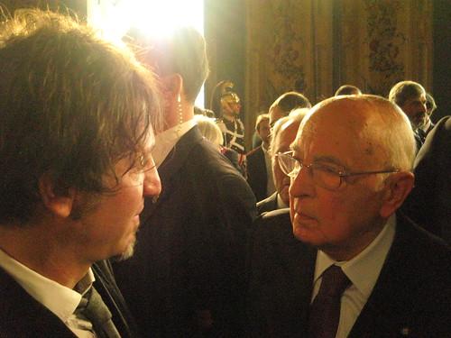Fabrizio Settegrani con il Presidente della Repubblica Giorgio Napolitano
