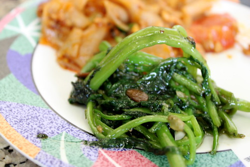 ong choy with soy bean sauce