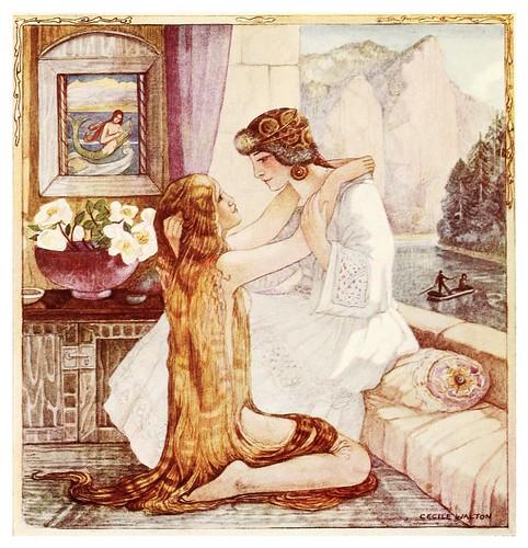 017-La reunion de las hermanas-Polish fairy tales 1920-Cecile Walton