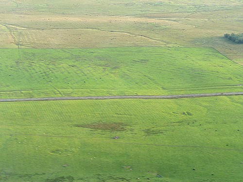 The site of Milecastle 32 from the air
