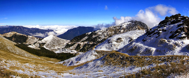 winter scene of Hehuanshan 合歡雪景