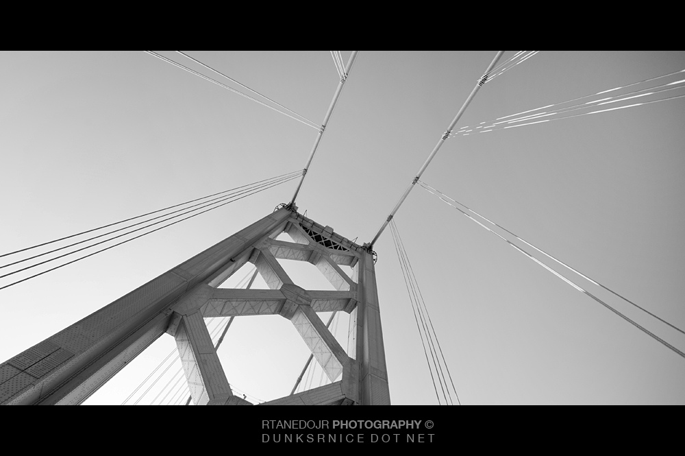 Bay Bridge, San Francisco B&W.