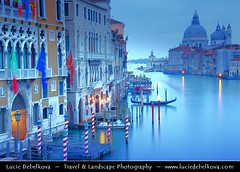 Italy - Venice - Grand Canal & Basilica Santa Maria della Salute durning early morning