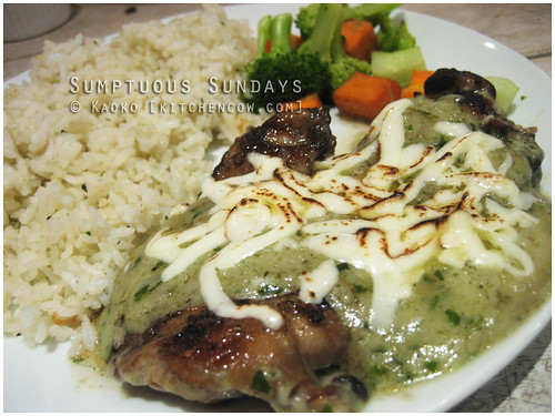 Sumptuous Sundays: Pesto Chicken from Five Cows by kaoko