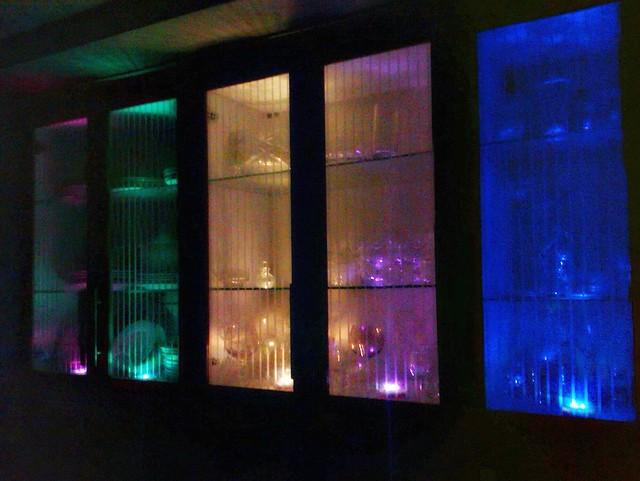 Six Blue Led Interior Stick And Click Pod Push Lights Mood