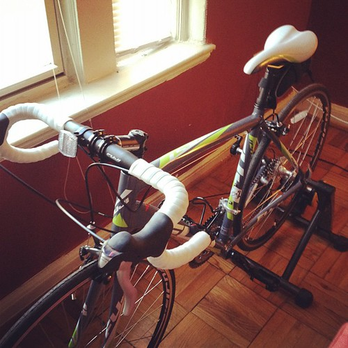 Mixing things up with a ride on the trainer