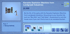 Karaoke Explosion Machine from Landgraab Industries