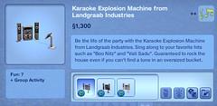 Karaoke Explosion Machine from Landgraab Industries