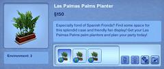 Las Palmas Palms Planter