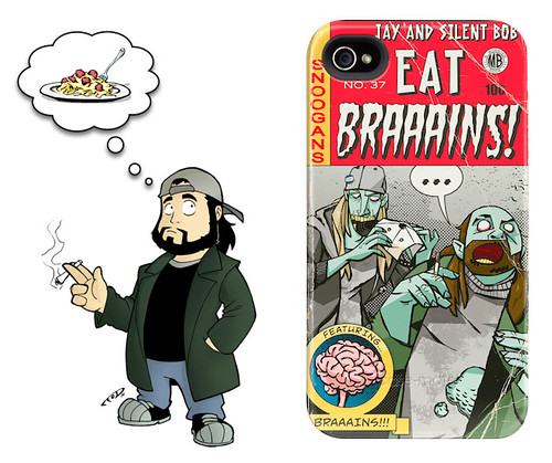 Jay & Silent Bob - Eat Brains iPhone 4 Case