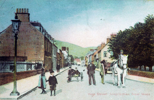 High Stret, Innerleithen from the west by Maxwell Ancestry