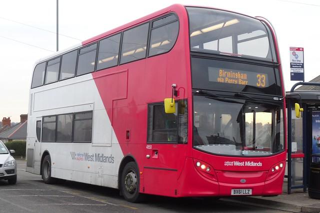 National Express West Midlands Alexander Dennis Enviro400 4850 (BX61 LLZ)