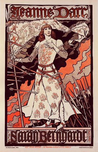 002-Affiche pour le Théâtre de la Renaissance  Jeanne d'Arc. (1896-1900) -NYPL