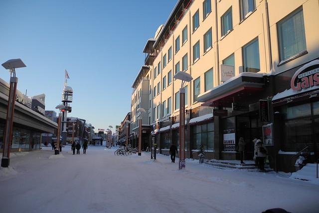 El centro de Rovaniemi