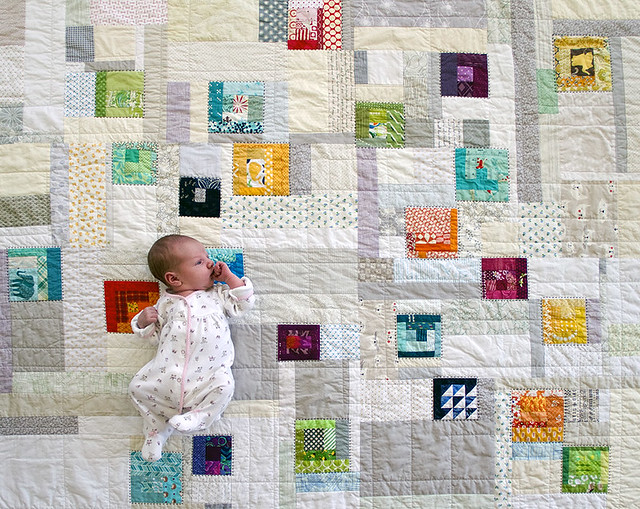 Vivian and her quilt