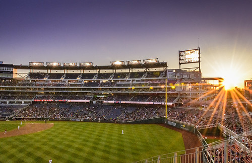 Nationals Stadium Sunset by Geoff Livingston