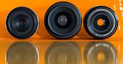 35mm lenses front