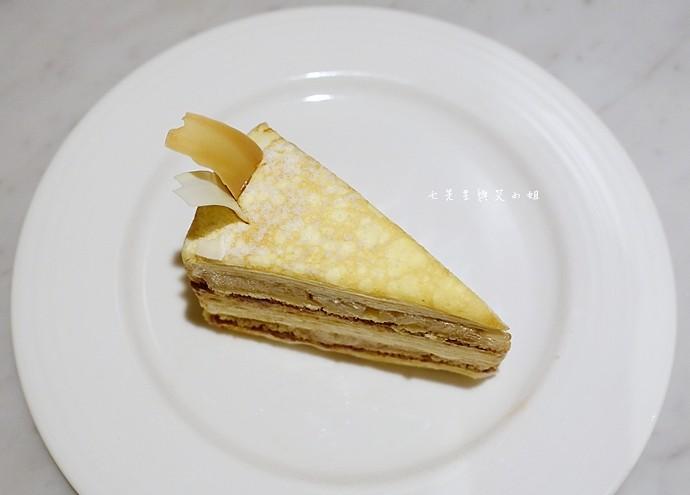 24 台南 深藍咖啡館 千層蛋糕
