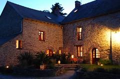 Gîte La Bourousais 35330 Maure de Bretagne : vue de nuit