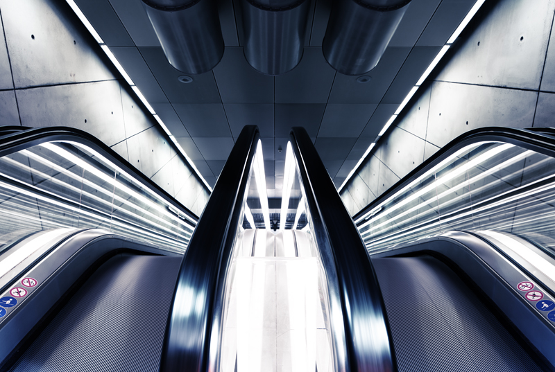 Escalator, Triangeln station