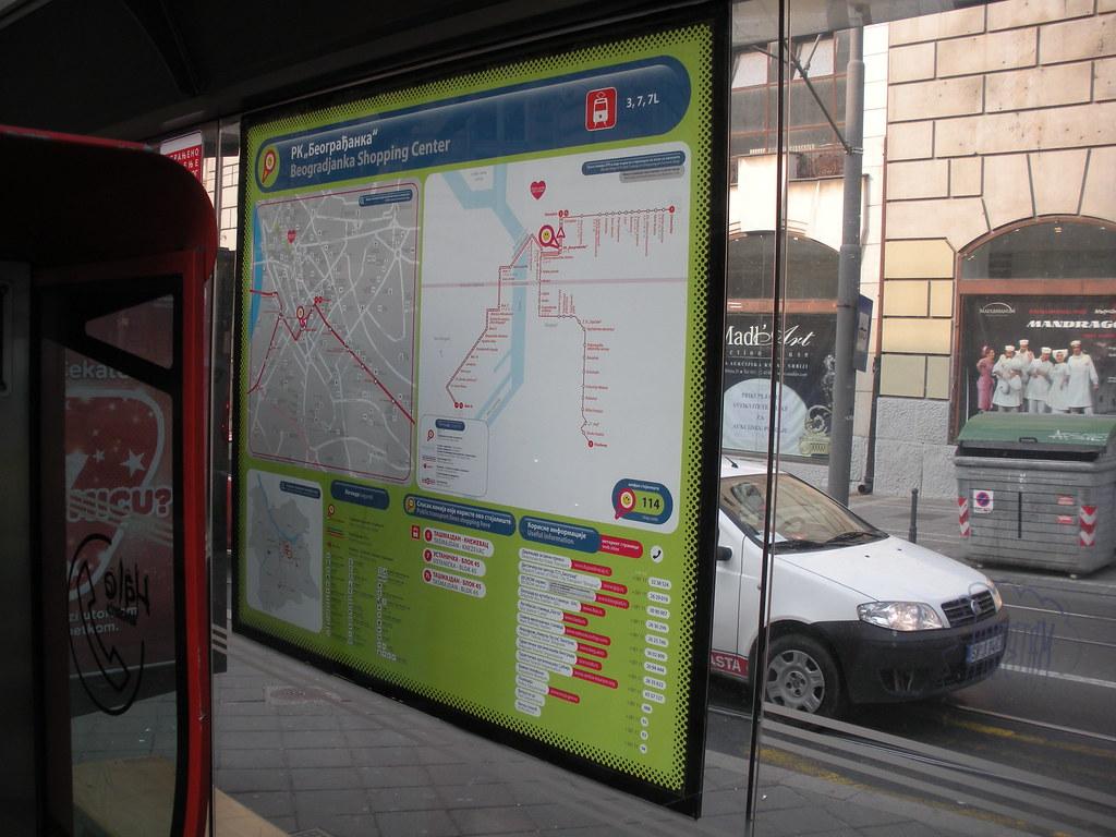 Mapa Gsb A Public Transport Map Near Beogradjanka Belgra Flickr