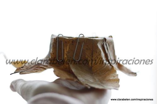 Ideas y manualidades: originales portavelas con hojas secas y clips