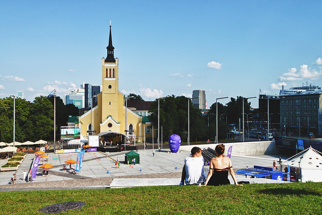 Tallinn. Freedom Square & St. John's Church