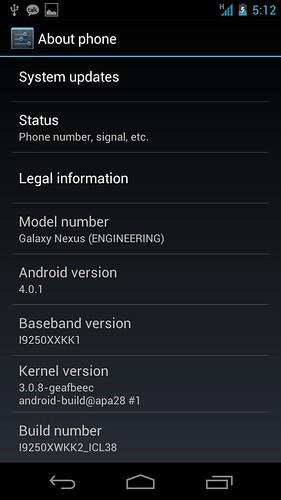 Android 4.0.1 Ice Cream Sandwich