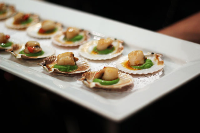 scallop canapes